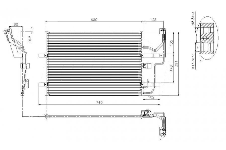 радиатор кондиционера для mazda mpv 2002 3.0